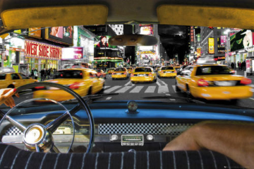 New York Taxi Ride Maxi Poster
